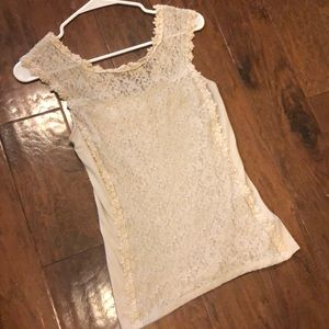 Nude Express Lace Sleeveless Blouse